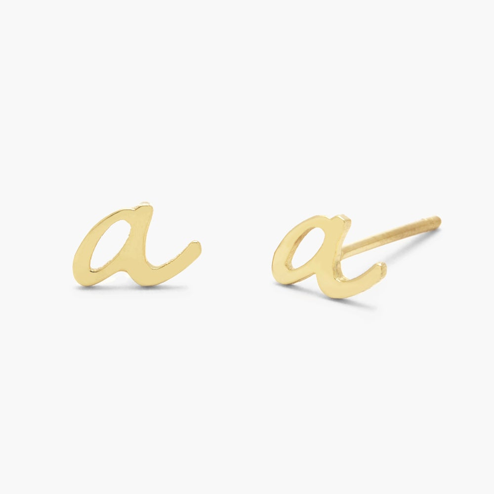Nella 14K Initial Earrings
