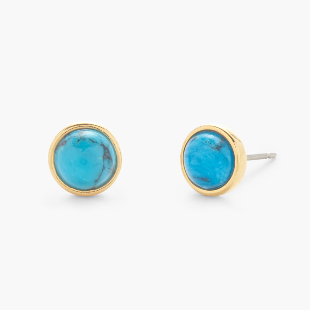 Nola Gemstone Earrings - Turquoise