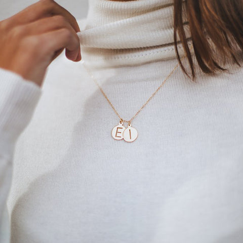 Halsey Cut Out Two Initial Necklace