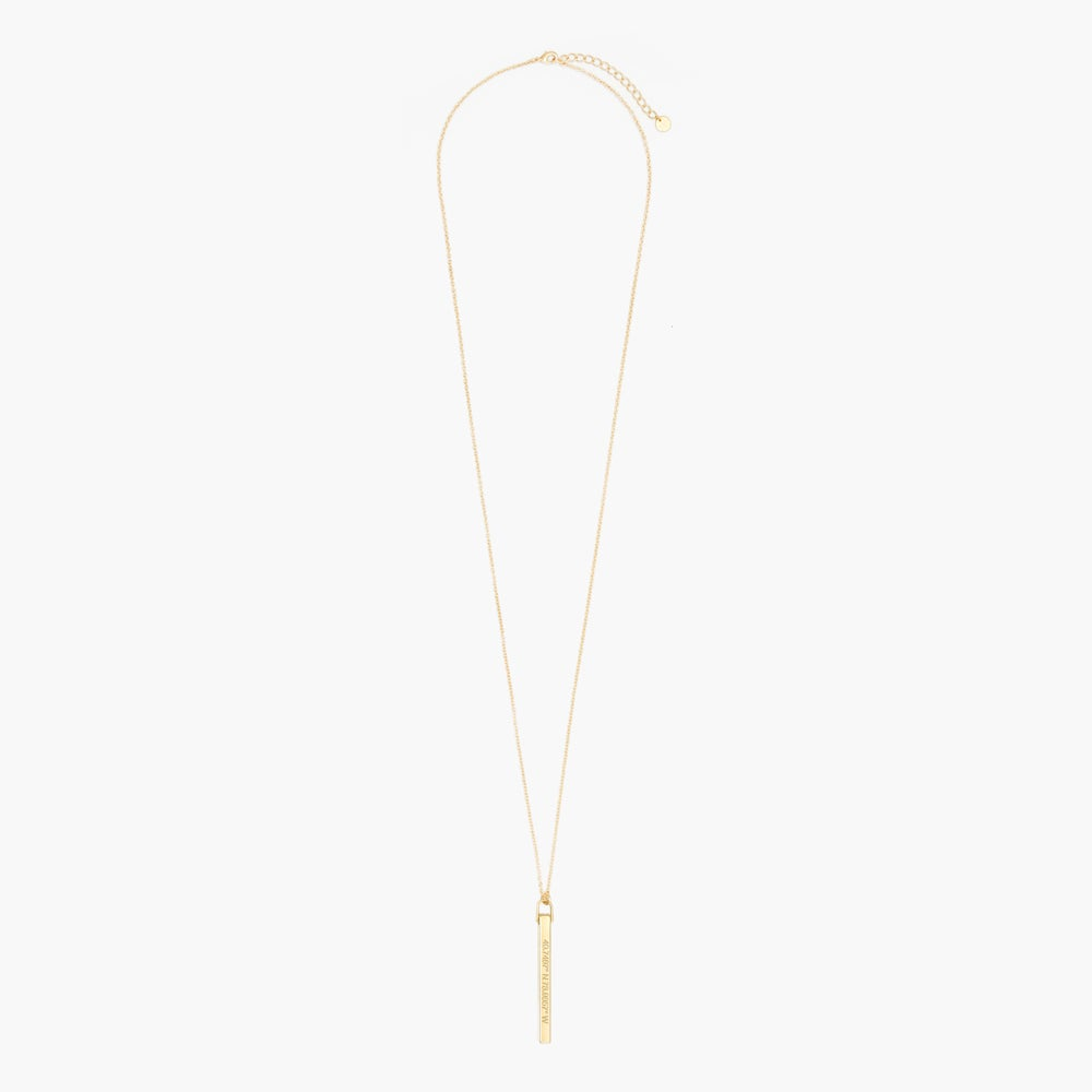 Coordinate Vertical Bar Necklace