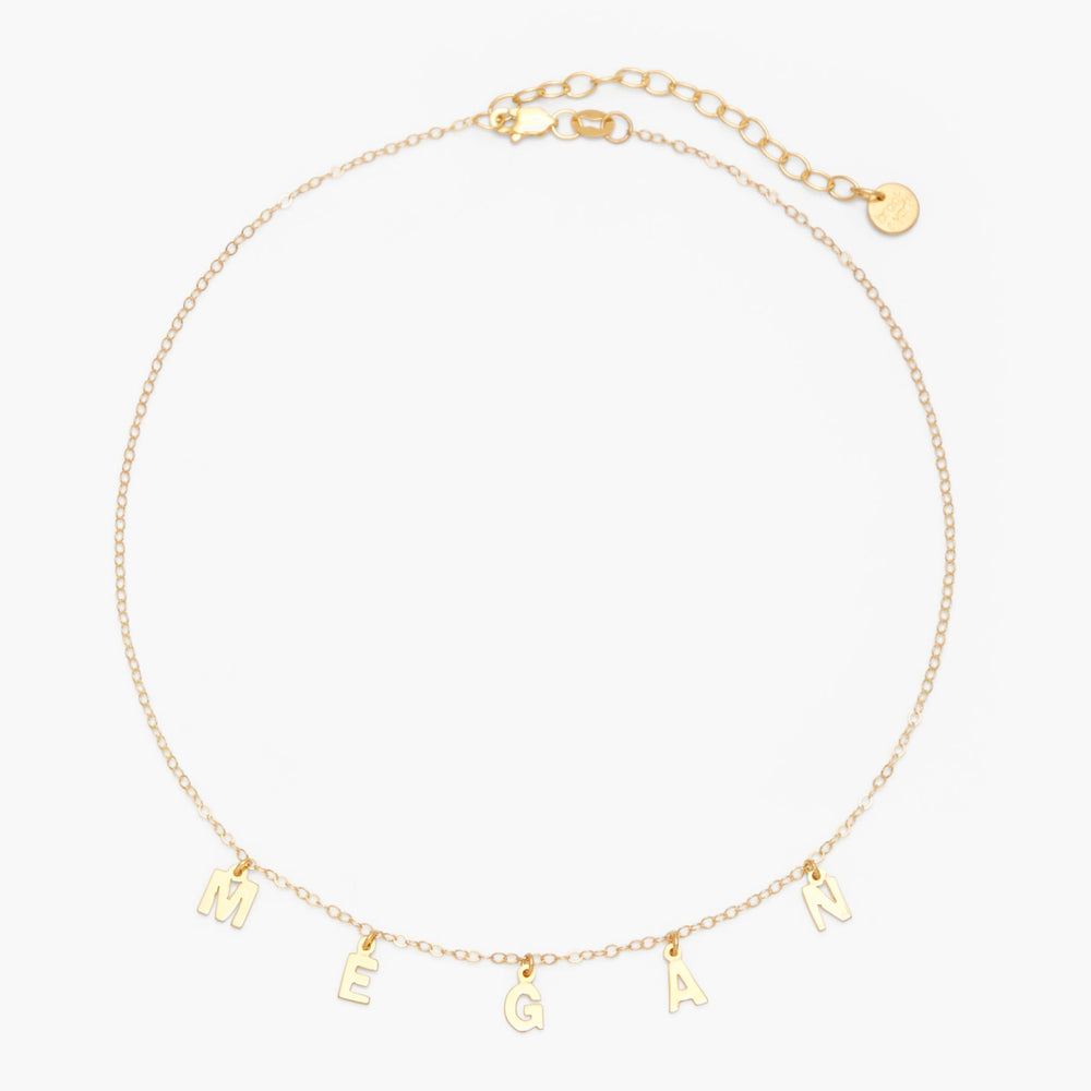 Sofia Spaced Name Choker