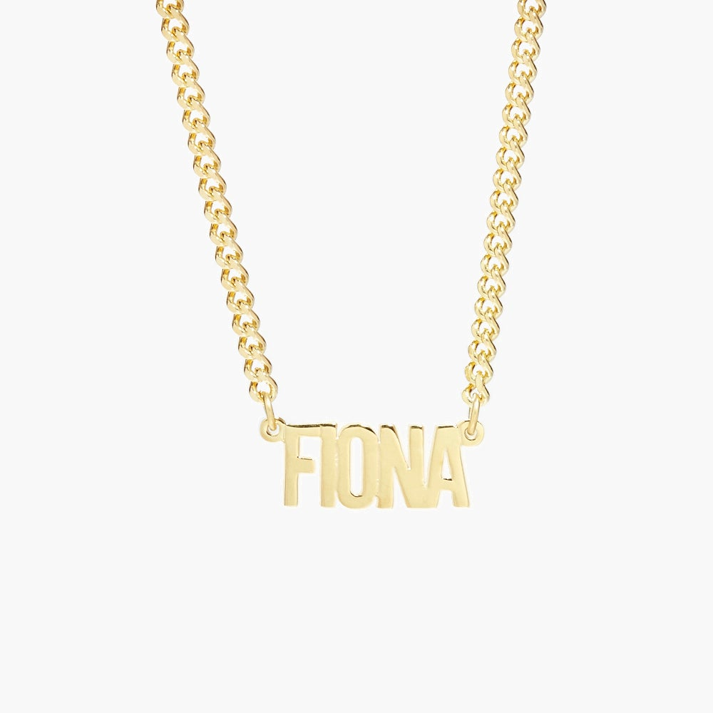 Fiona Nameplate Necklace