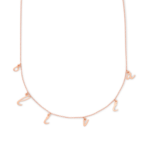 Nella Spaced Name Necklace