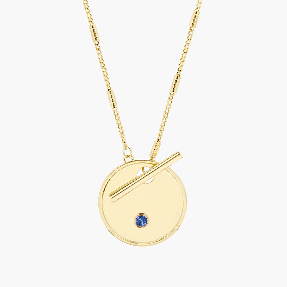 Grace Birthstone Toggle Necklace