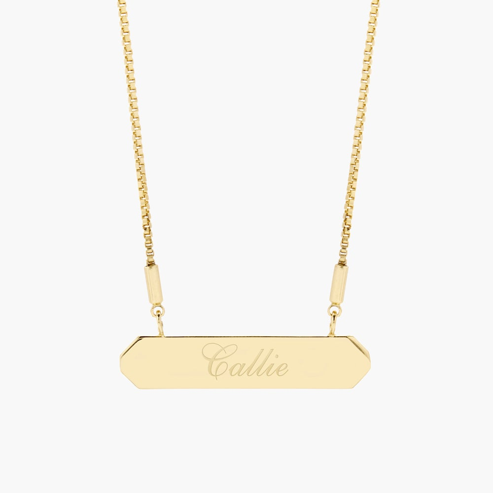 Hannah Name Bar Necklace