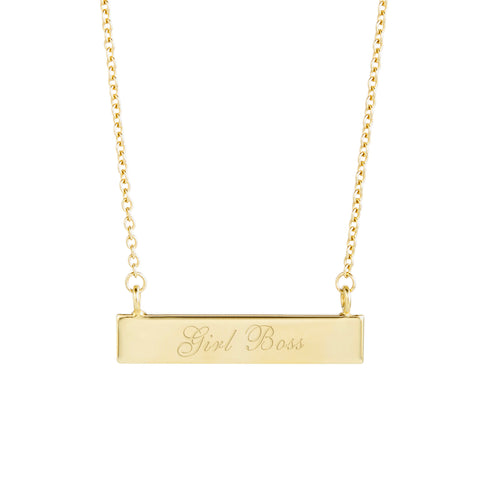 Girl Boss Bar Necklace