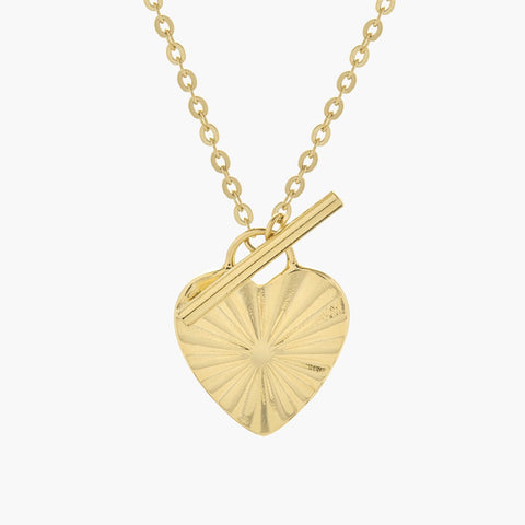 Celeste Heart Toggle Necklace