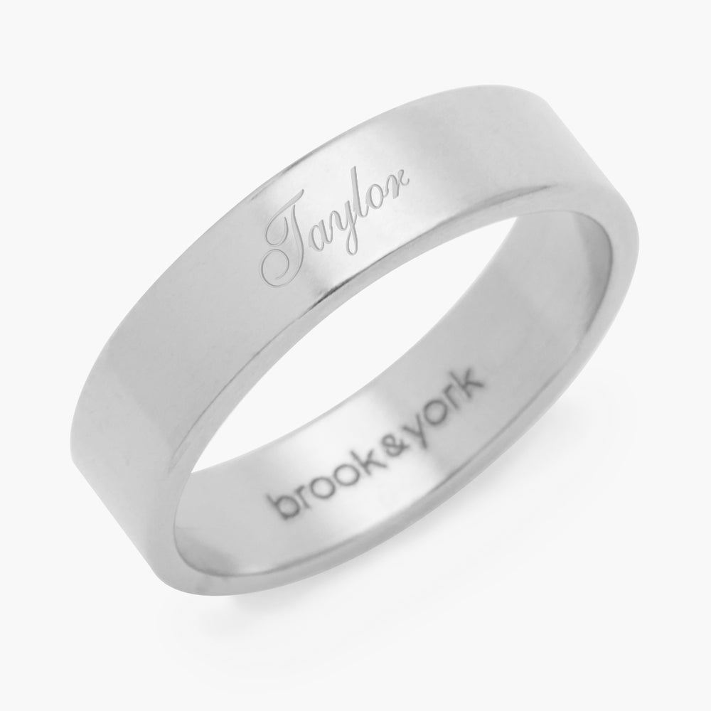 Aria Name Fine Ring