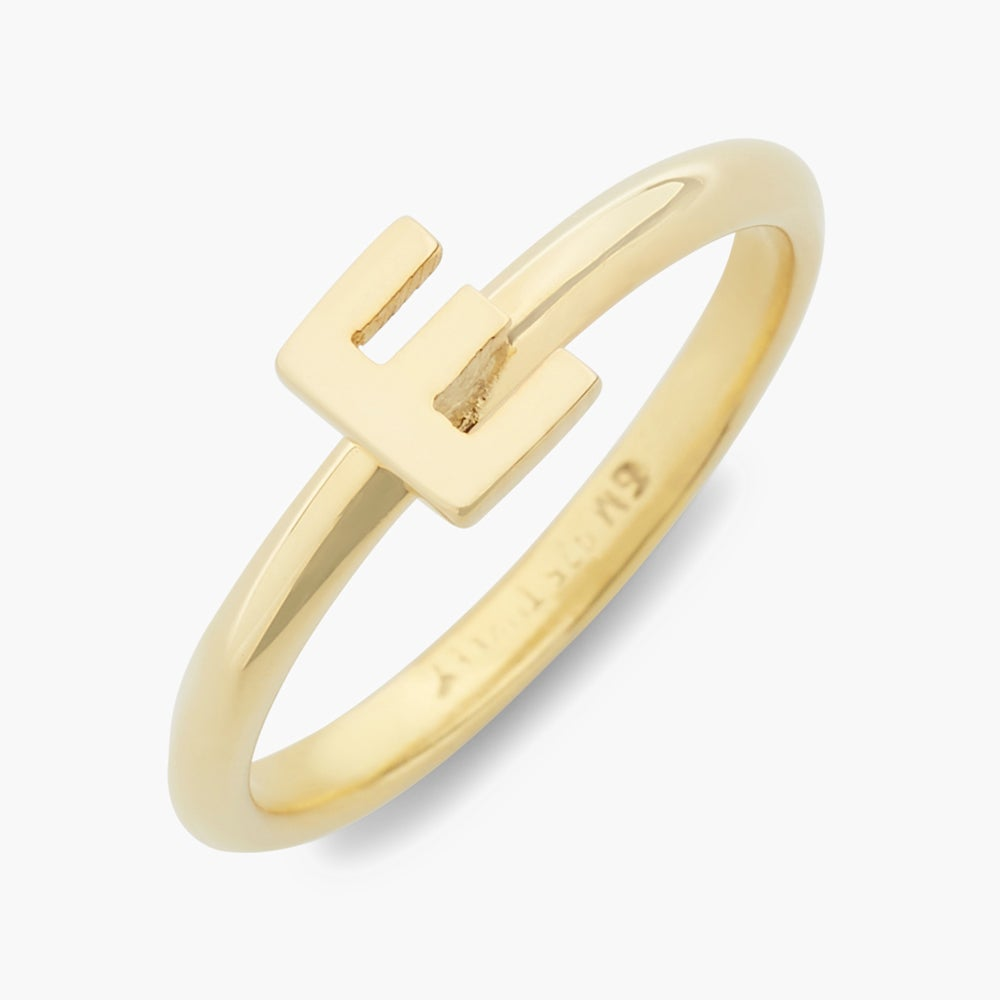 Everly 14K Initial Ring