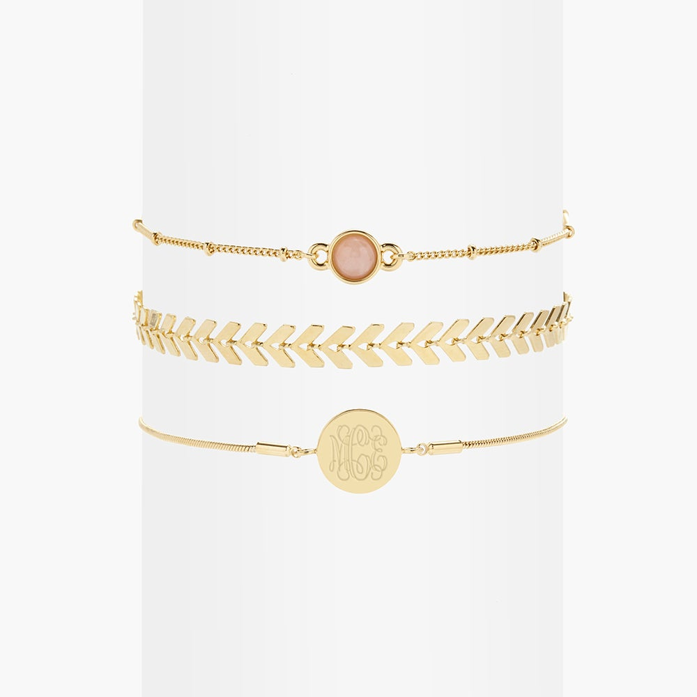 Wren Rose Quartz Bracelet Set