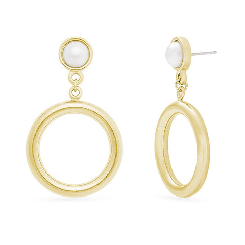 Lola Pearl Drop Hoops
