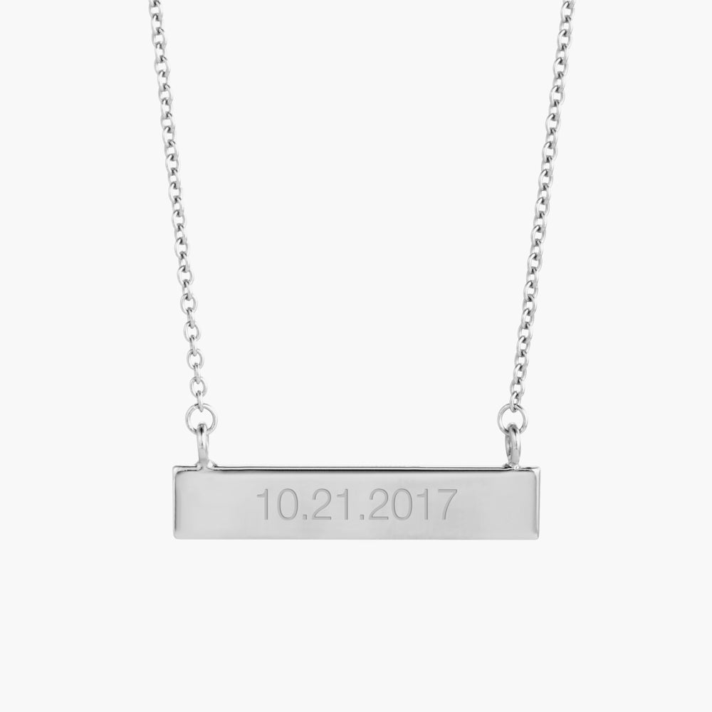Date Bar Necklace
