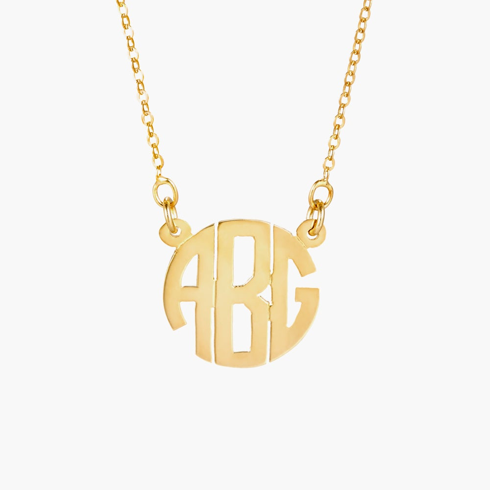 Gold Block Font Three Letter Monogram
