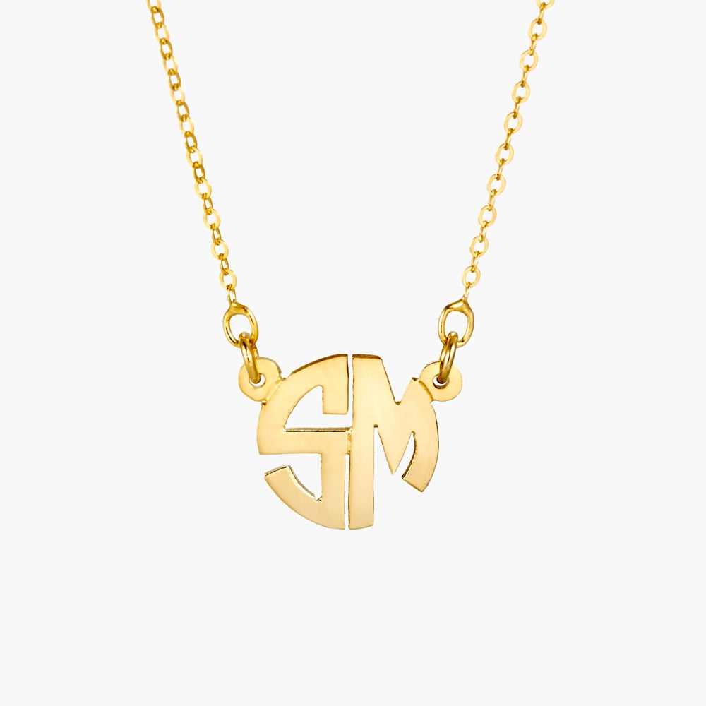 Gold Two Letter Block Monogram