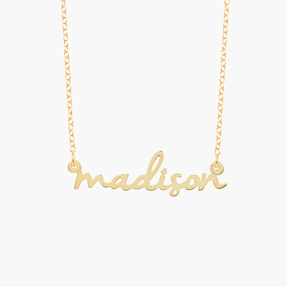 Nella Mini Nameplate Necklace