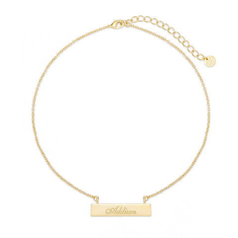 Name Bar Choker
