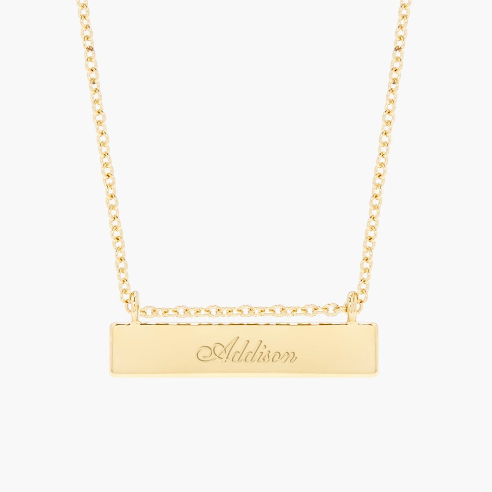 Chloe Name Bar Necklace