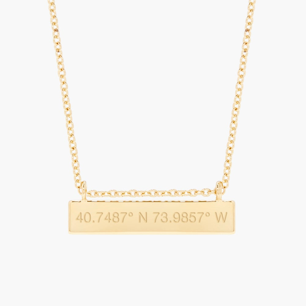 Chloe Coordinate Bar Necklace