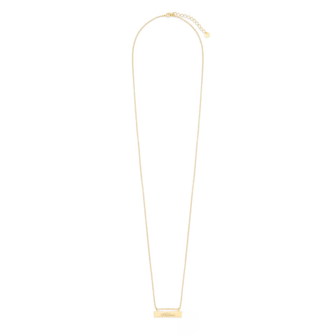 Chloe Long Name Bar Necklace