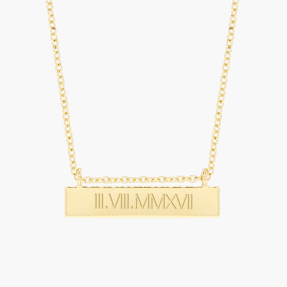Chloe Roman Numeral Bar Necklace