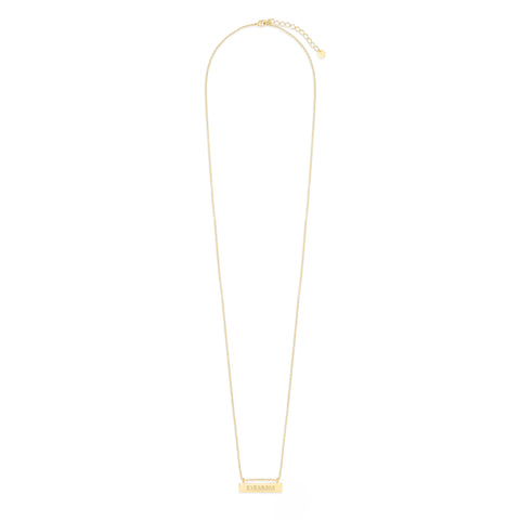 Chloe Long Roman Numeral Bar Necklace