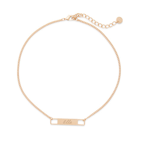 Harper Name Bar Choker