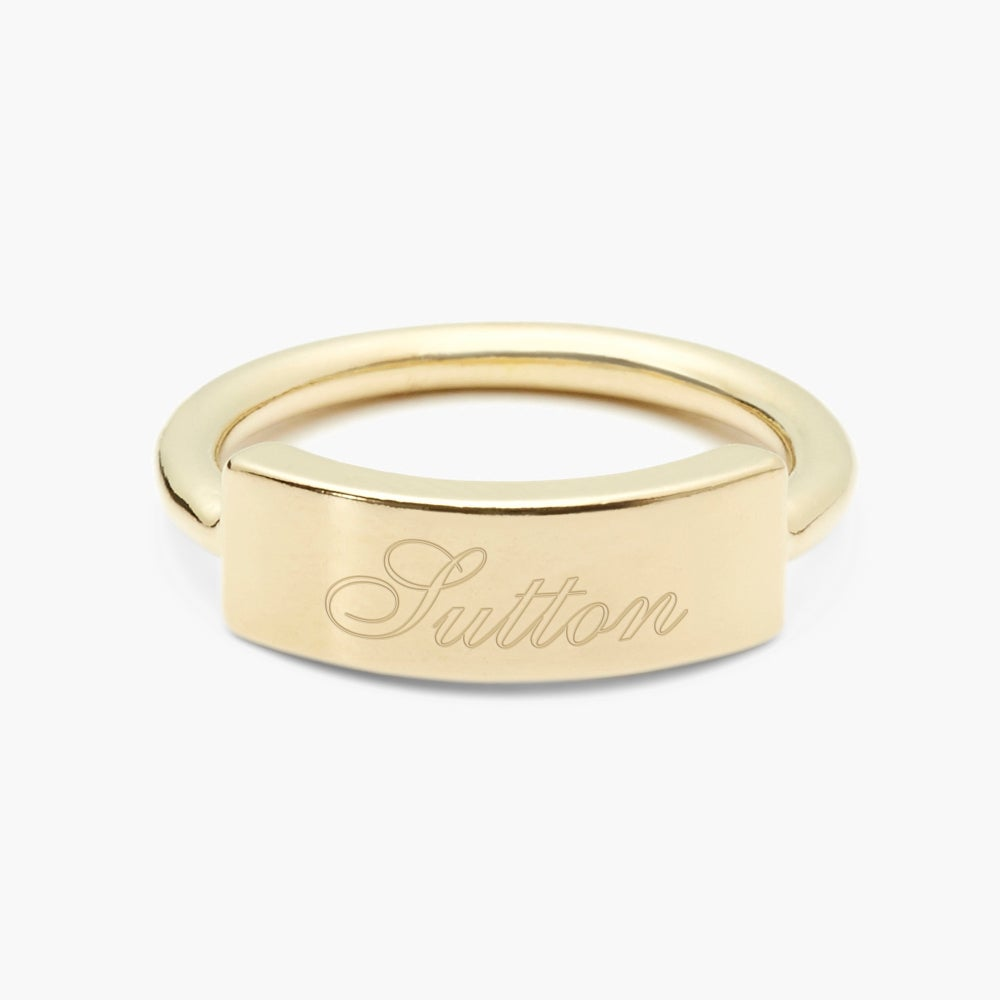 Kira Name Bar Ring