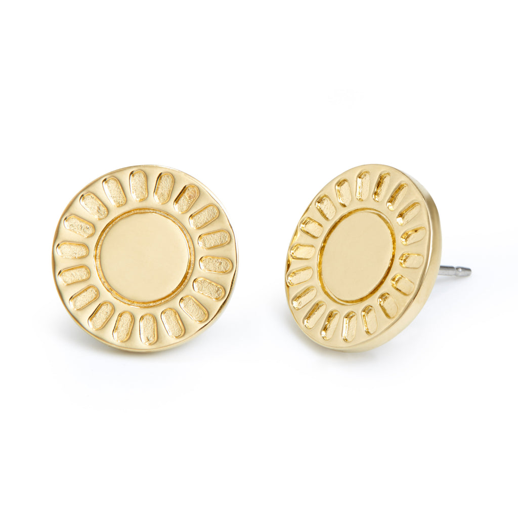 Central Disc Earrings