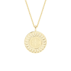 Central Disc Long Pendant