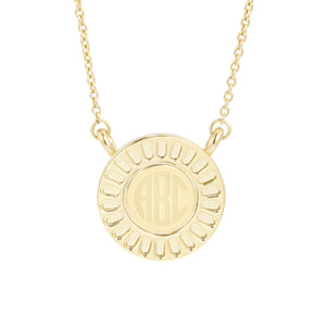 Central Disc Necklace