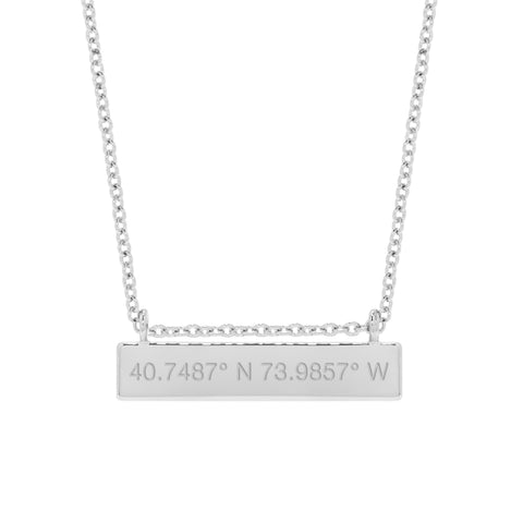 Long Chloe Coordinate Bar Necklace