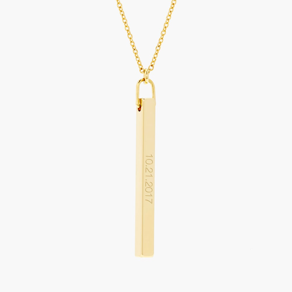 Date Vertical Bar Necklace