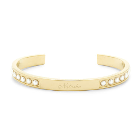 Holly Pearl Cuff Bracelet