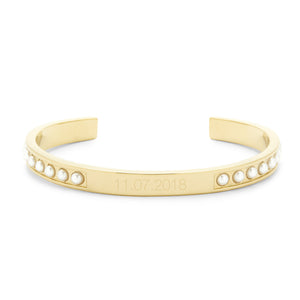 Holly Pearl Date Cuff Bracelet