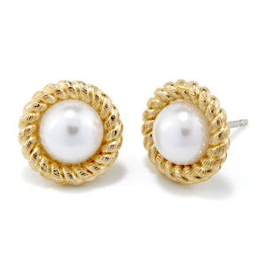 Kate Button Pearl Earrings