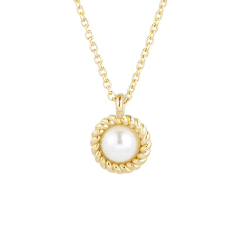 Kate Button Pearl Necklace