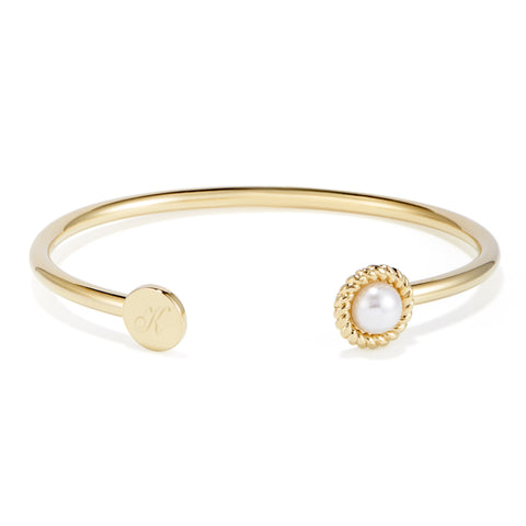 Kate Button Pearl Signet Cuff