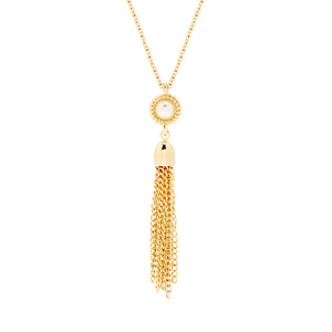 Kate Button Pearl Tassel Necklace