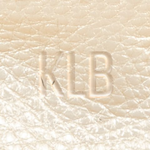 zoomed champagne leather blind