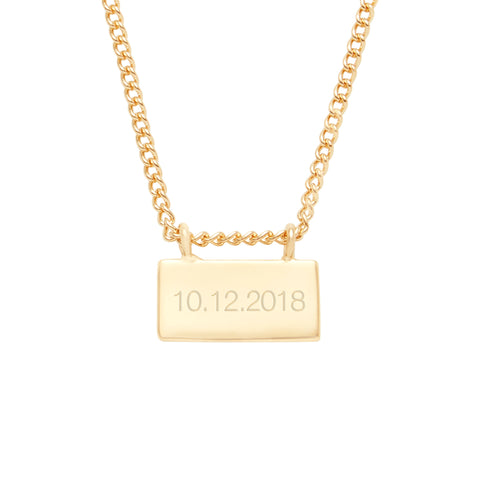Petite Date Bar Necklace