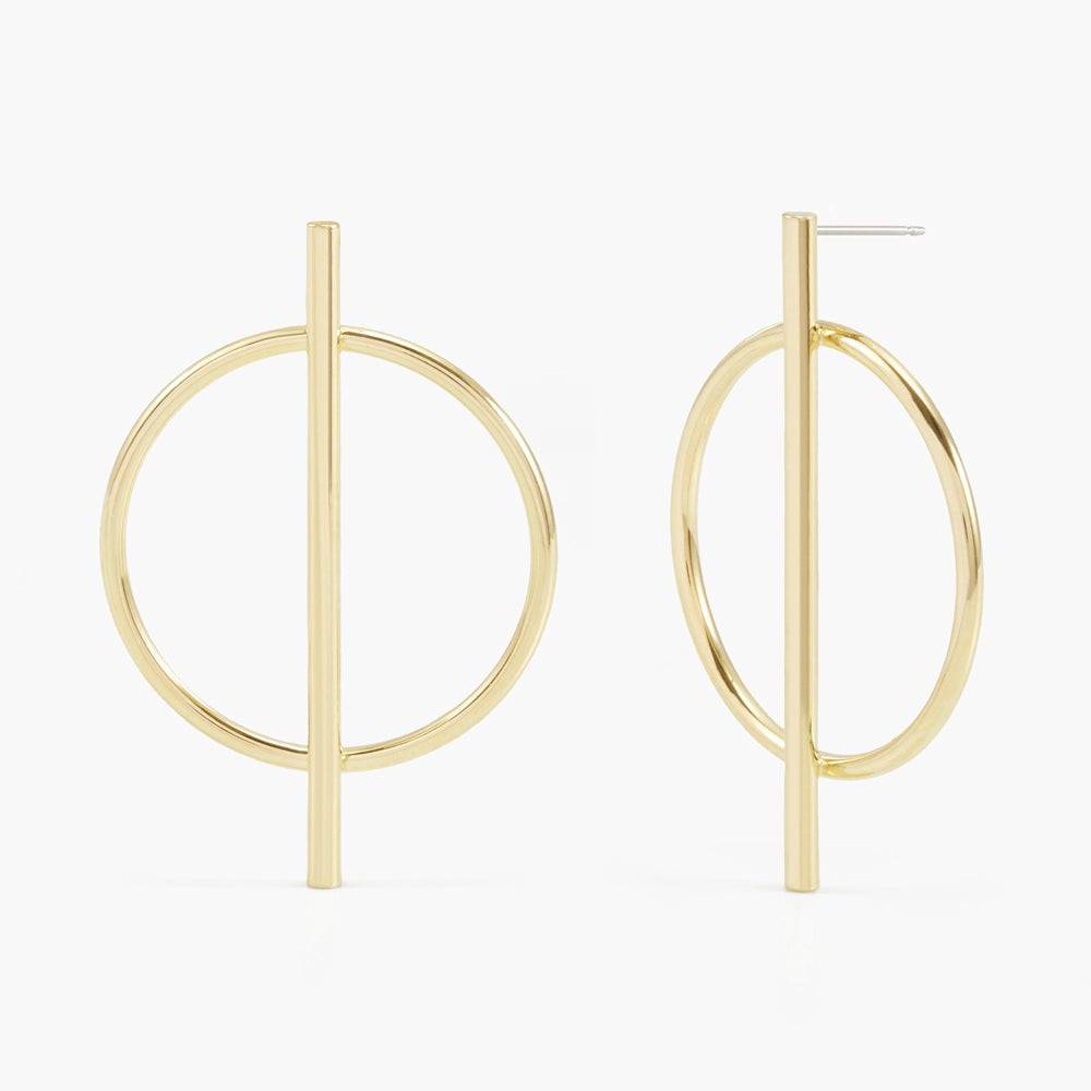 Piper Long Bar Hoops