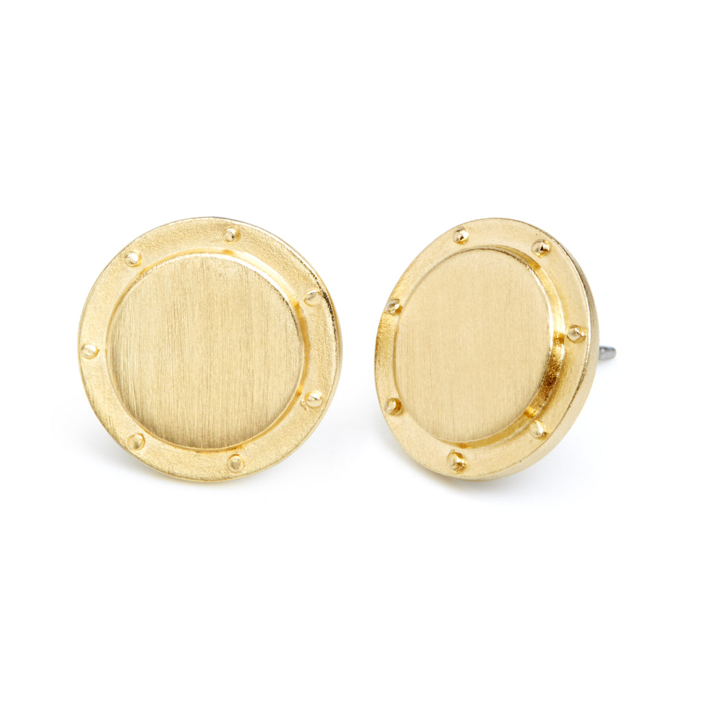 Quinn Button Earrings