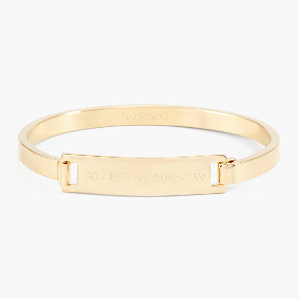 Gold Coordinate Bar Bracelet