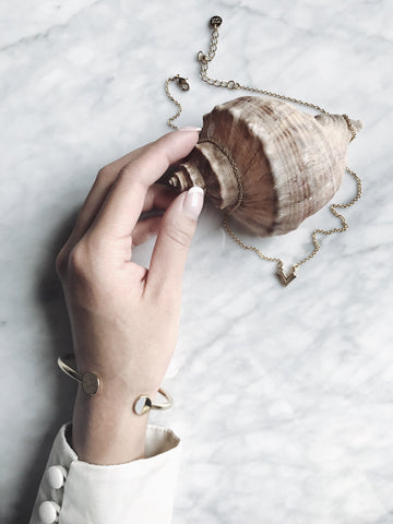 $influencer @sisilia.z in Somerset Signet Cuff by @brookandyork