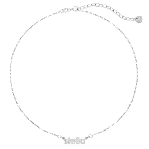 Sterling Silver Nameplate Choker