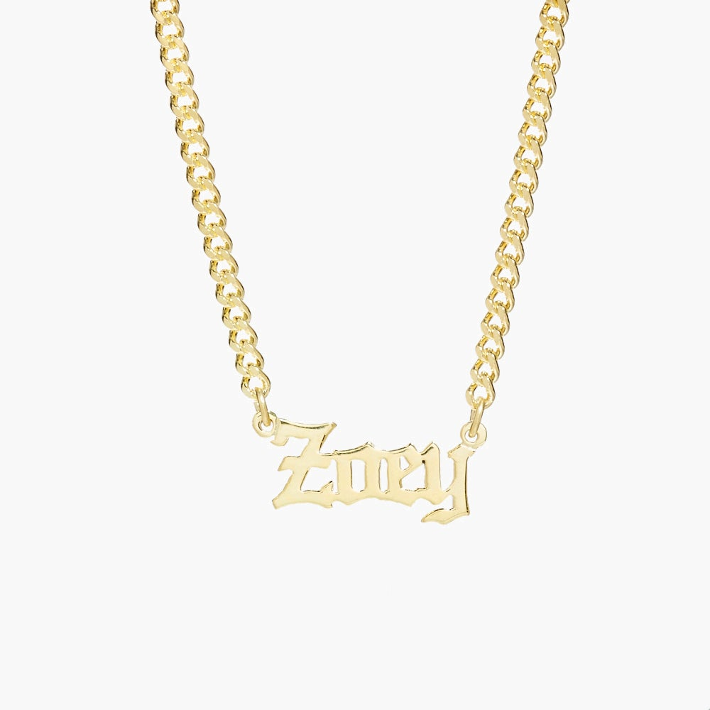 Talia Nameplate Necklace