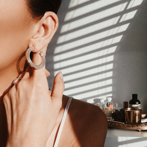 $influencer @thoughtfulmisfit Bow Hoop Earring by @brookandyork