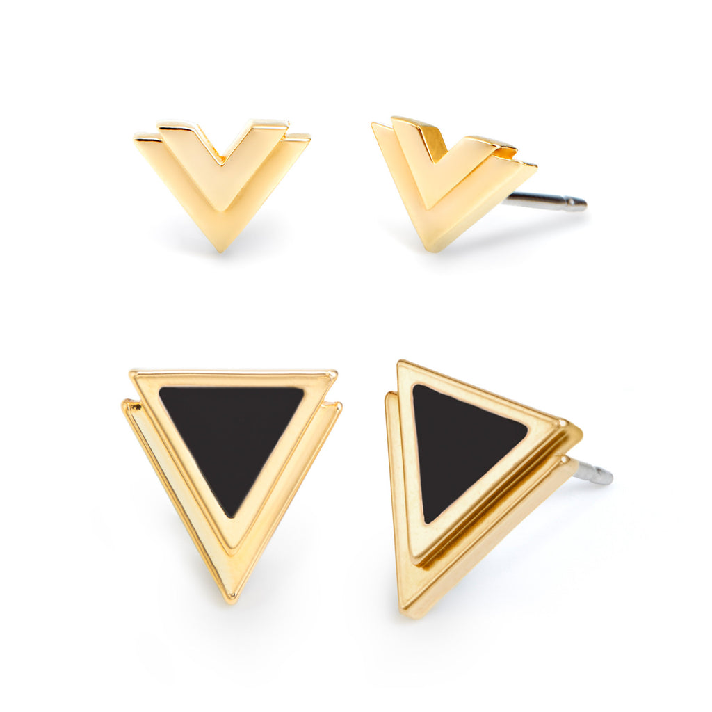 V Earring Set