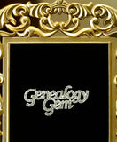 Genealogy Gem Rhinestone Pin