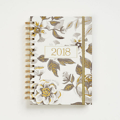 2018 Black Watercolor Planner